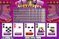 Il videopoker Aces and Faces di Casinò.com.