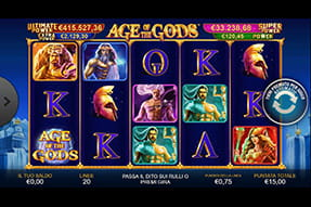 Slot Age of the Gods su William Hill casinò mobile