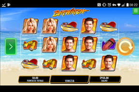 La slot Baywatch del casinò mobile Lottomatica.