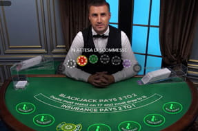 Il tavolo del Blackjack Exclusive del casinò live Betclic.