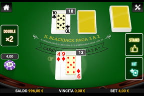 Il blackjack per device mobili del casinò Mr Green.