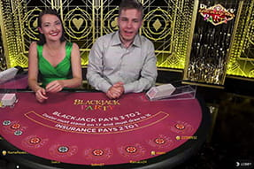 Il Blackjack Party del casinò live Eurobet