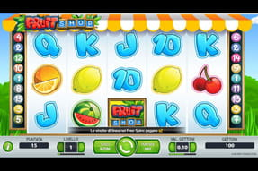La slot Fruit Shop del casinò mobile LeoVegas.