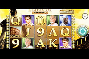 La slot jackpot Gladiator del casinò mobile Betfair
