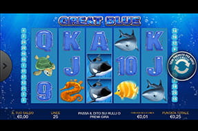 Slot Great Blue su William Hill casinò mobile
