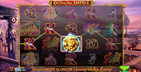 L'interfaccia di gioco della slot machine 'Glorious Empire'.