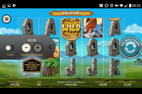 La slot machine Jackpot Giant dal catalogo del casinò Lottomatica mobile.