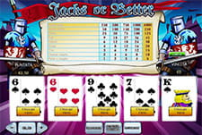 Il gioco Jacks or Better del casinò Sisal