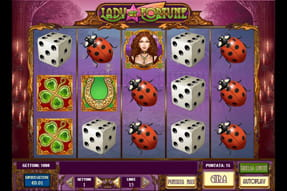 La slot Lady of Fortune del casinò mobile LeoVegas.