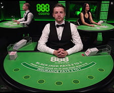 Il blackjack live di 888casino