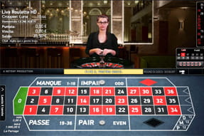 Il tavolo French Roulette with La Partage presente sul casinò Mr Green.