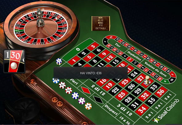 L'interfaccia grafica della Premium European Roulette di Playtech.
