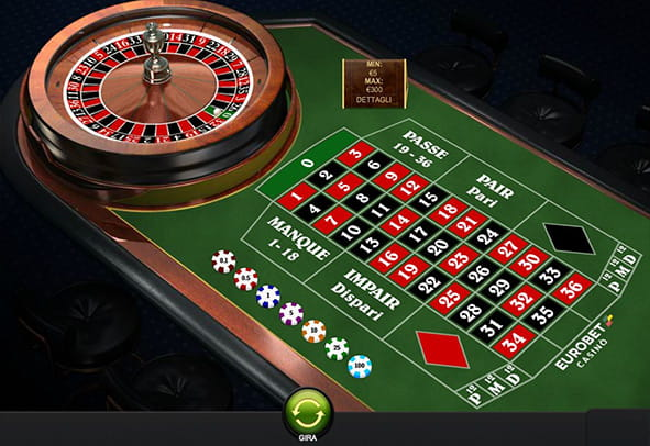 L'interfaccia grafica della Premium French Roulette di Playtech.