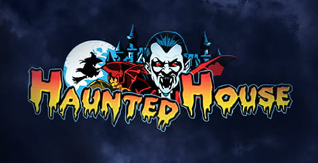 Il logo della slot machine 'Haunted House'.