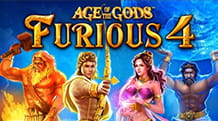 La slot jackpot Age of the Gods: Furious Four di Playtech.