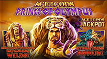 La slot jackpot Age of the Gods: Prince of Olympus di Playtech.
