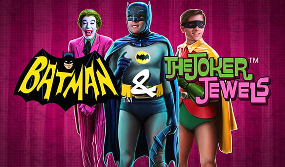 Joker, Batman e Robin: i tre protagonisti della slot Batman and The Joker Jewels di Playtech.