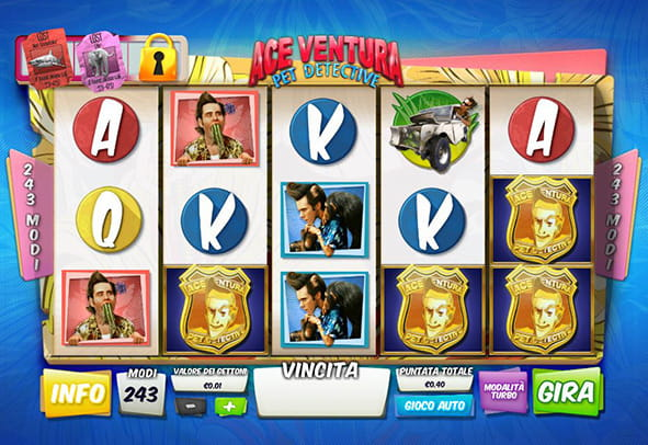 La slot machine della Playtech Ace Ventura.