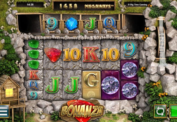 L'interfaccia di gioco della slot Bonanza di Big Time Gaming.