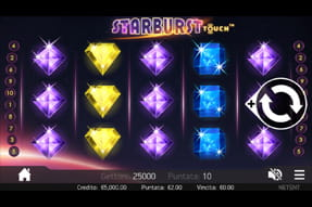 La slot Starburst del casinò mobile Mr Green.